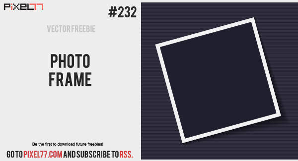 free vector Photo Frame Vector - Free Vector of the Day #232