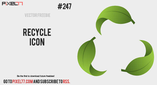 Recycle Vector Icon - Free Vector of the Day #247