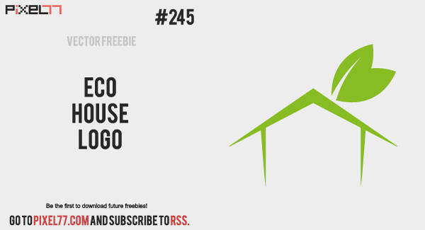 free vector Free Vector of the Day #245: Eco House Logo
