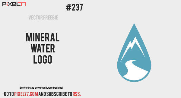 free vector Free Vector of the Day #237: Mineral Water Logo