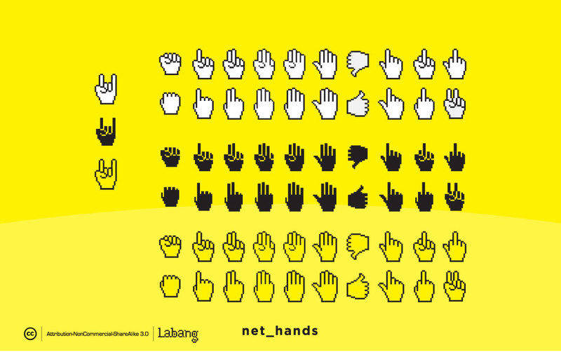 free vector Net Hands Vectors