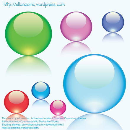 free vector Colorful Glass Marbles