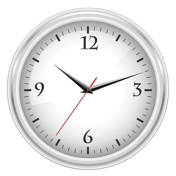 free vector White office clock