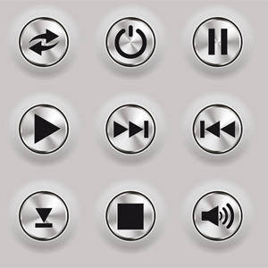 free vector Metal Buttons Vectors