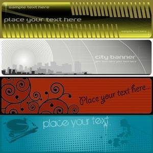free vector Grunge Vector Banners