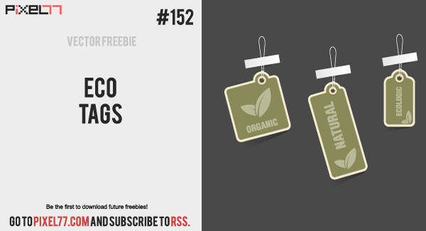 free vector Free Vector of the Day #152: Eco Tags