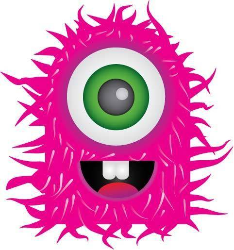 free vector Pink Monster Vector