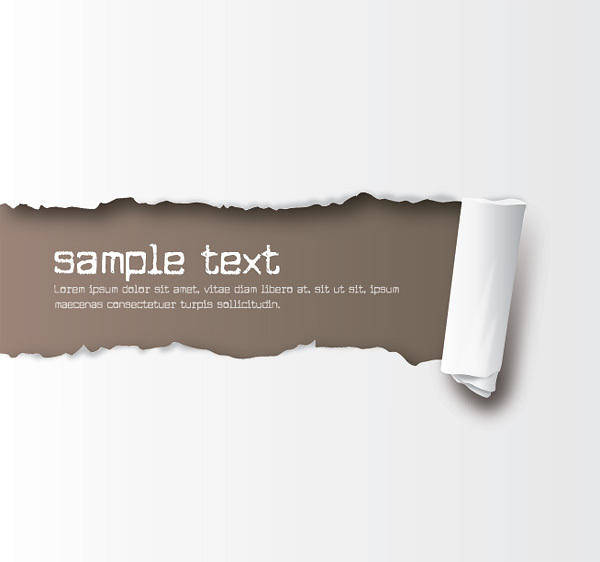 Free Ripped Paper Vector
