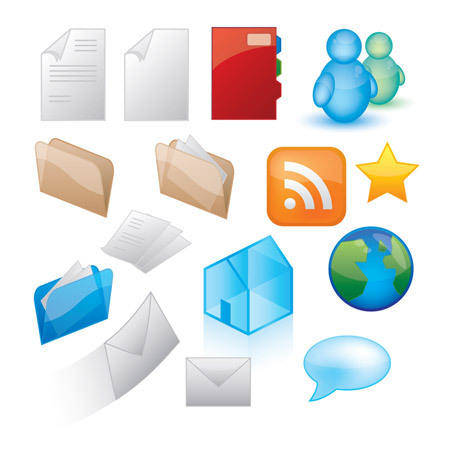 Glossy Icon Style Vector Graphics