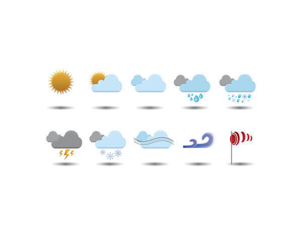free vector Weather Vector Icons by AnotherWebStorm