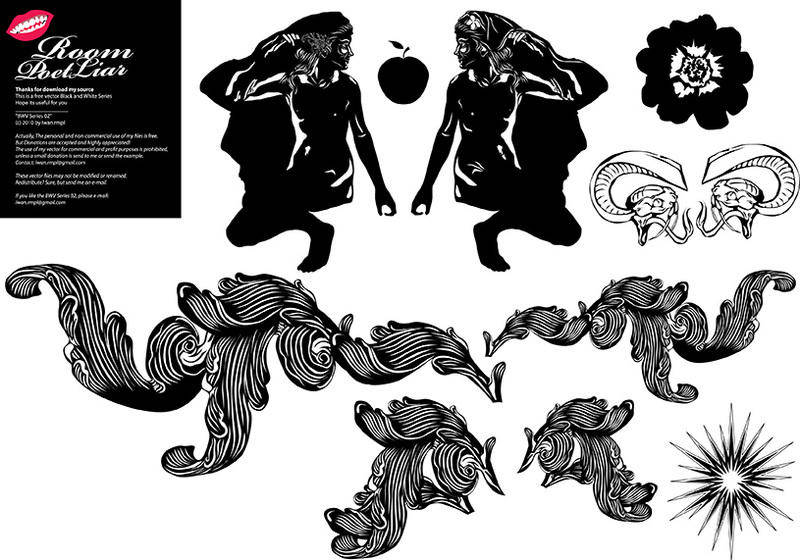 free vector FREE BLACK WHITE VECTOR # 2