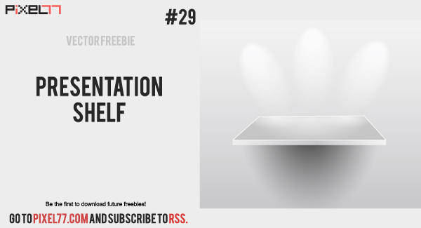 free vector Presentation shelf