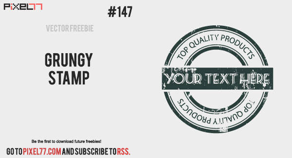 free vector Free Vector of the Day #147: Grungy Stamp
