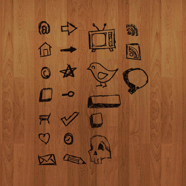 free vector Hand Drawn Vector Icons