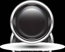Free Platinum Black Circle Button