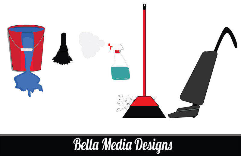 free vector House Work(cleaning supplies) Vectors