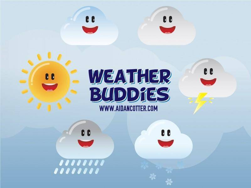 free vector Cute Weather Vector Icons