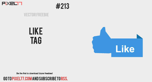 free vector Free Vector of the Day #213: Like Tag