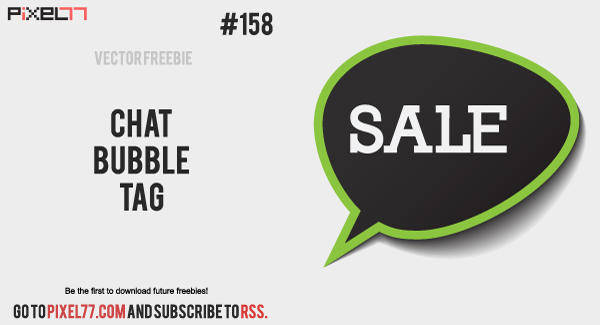 Chat Bubble Vector Tag - Free Vector of the Day #158
