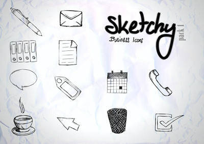Sketchy Business Vector Pack