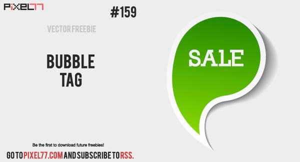 Free Vector of the Day #159: Bubble Tag