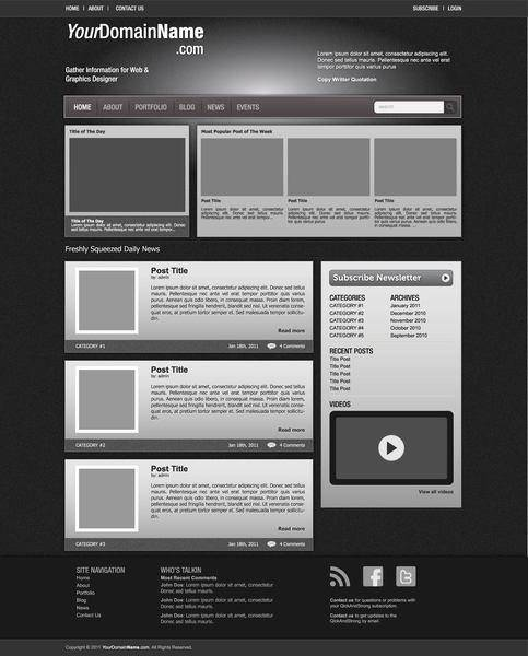 Vector Web Template