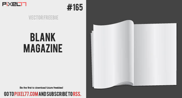 Free Vector of the Day #165: Blank Magazine