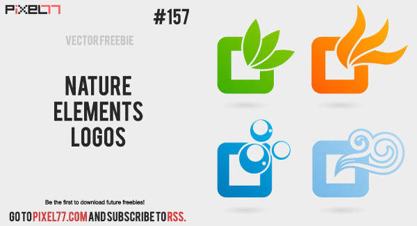 free vector Nature Vector Elements Logos - Free Vector of the Day #157