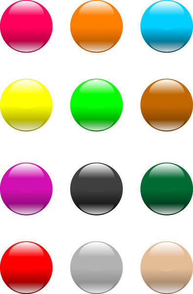 free vector Aqua button like apple