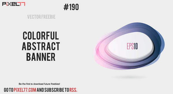free vector Free Vector of the Day #190: Colorful Abstract Banner