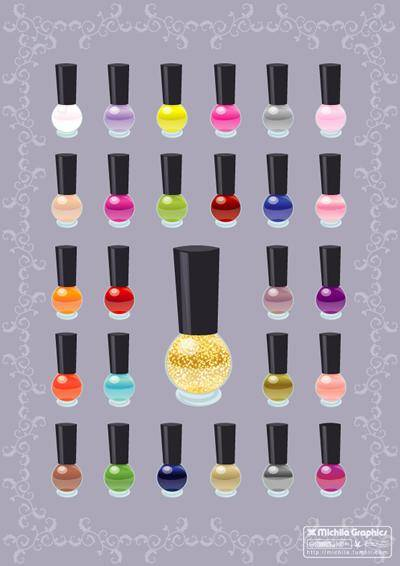 free vector Nail Polish Color Vectors