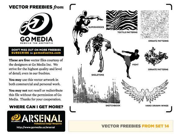 free vector Vector Pack 14 Sampler
