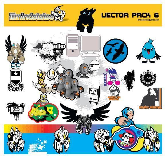 free vector Random vectors & doodles