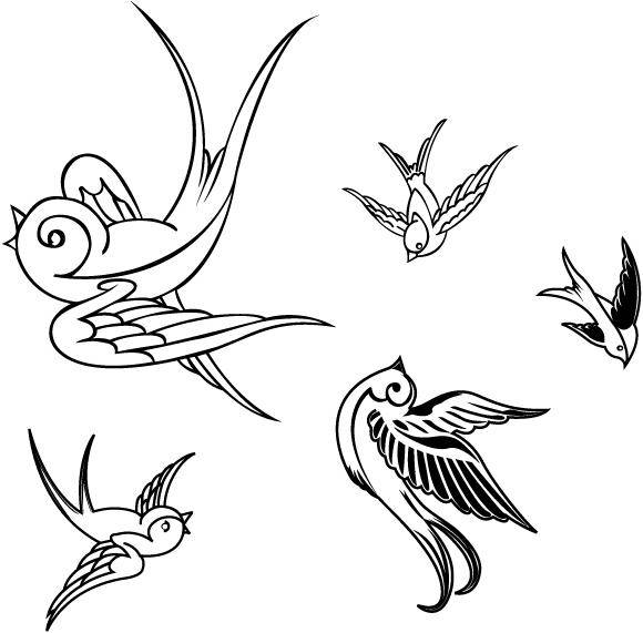 free vector VECTOR BIRDS - SPARROWS