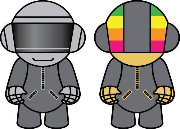 free vector Daft Punk Dolls