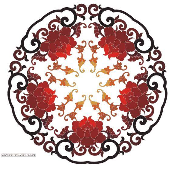 Chinese ornament from www.craftsmanspace.com