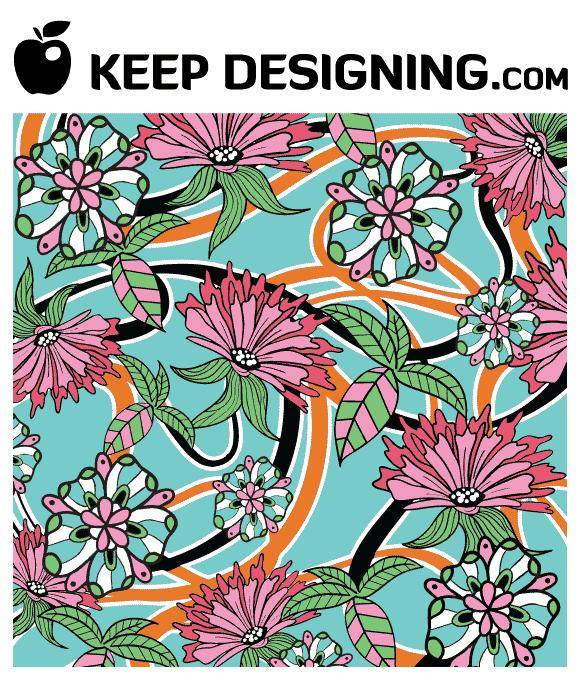 free vector Summer Floral Wallpaper Vector- free