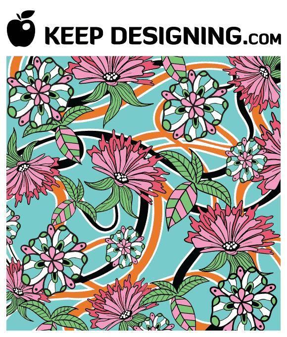 free vector Summer Floral Wallpaper Vector- free