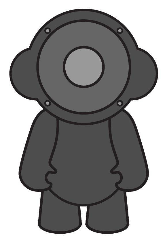 free vector Speaker Doll