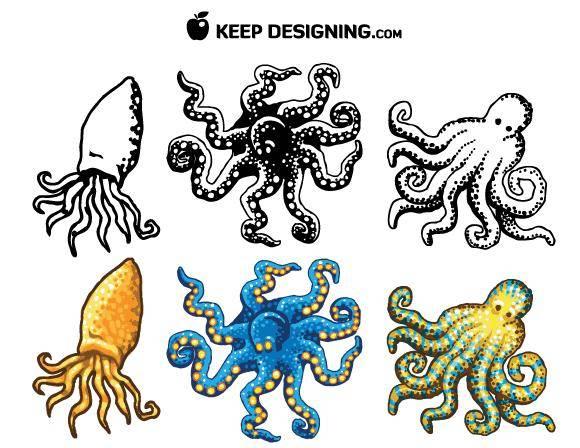 free vector Octopus Design Vectors- Free