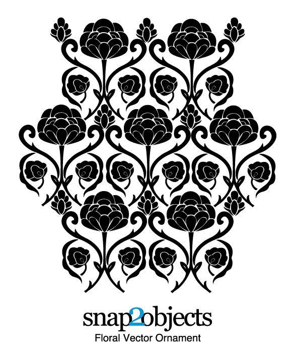 free vector Free Floral Vector Ornament