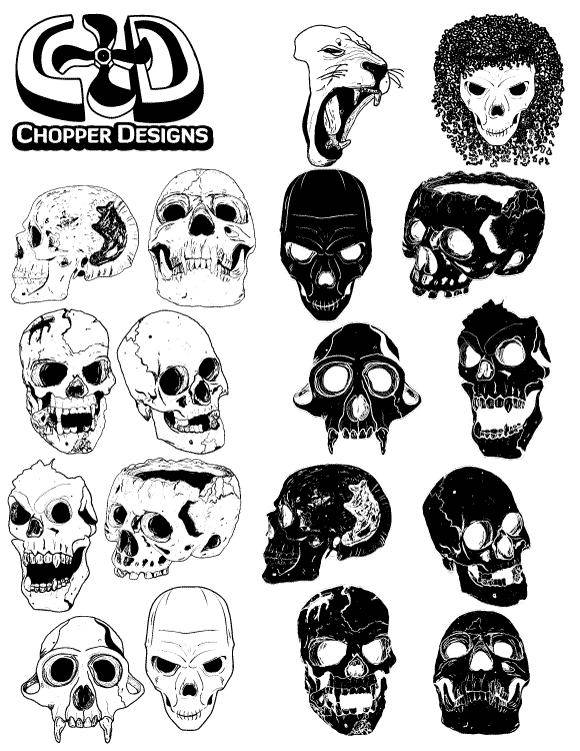 ChopperDesigns Skull Set