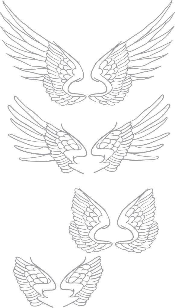 FREE HAND DRAWN VECTOR WINGS