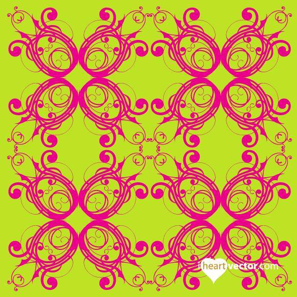 free vector Flourish Pattern Vector