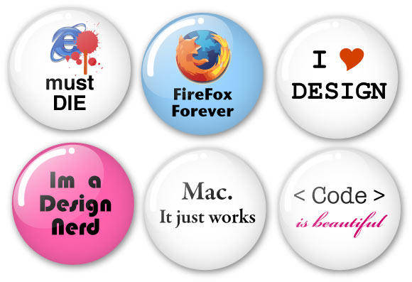 free vector Humorous Vector Badges - for Designers