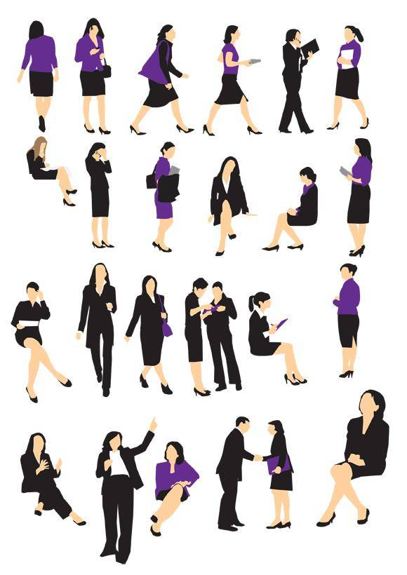 free vector Businesswoman Silhouette