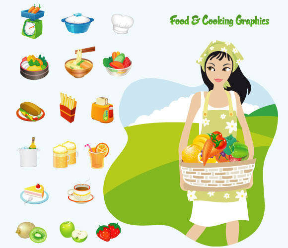 Food & Cooking Vector Art