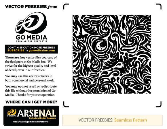 free vector Seamless Swirls Pattern