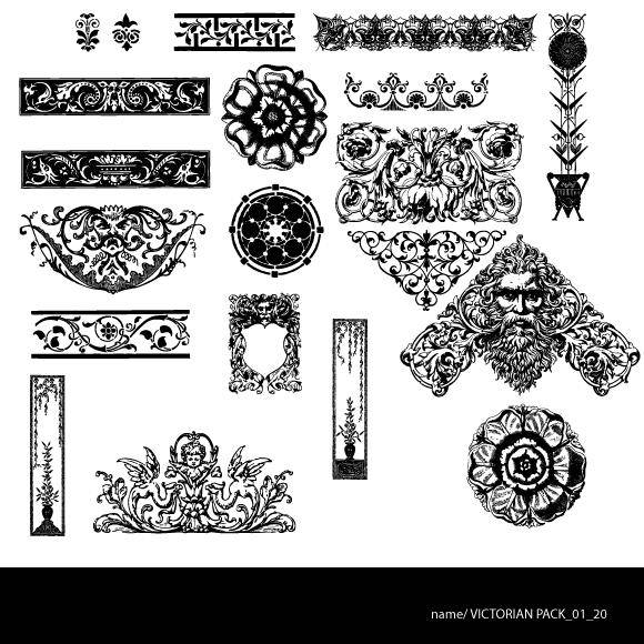 free vector Victorian free pack