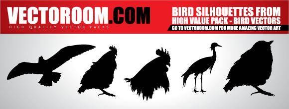 free vector Vectoroom Free Vector #1 - Birds